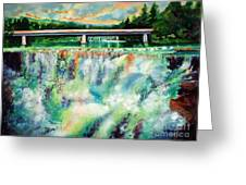 Two Bridges And A Falls 2          Greeting Card
