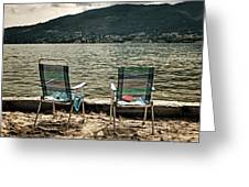 Two Chairs Greeting Card