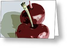 Two Cherries Greeting Card