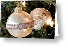 Two Christmas Ornaments Greeting Card