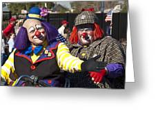 Two Clowns Greeting Card