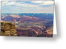 Two Crows Watch Over The Canyon Greeting Card