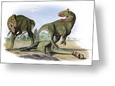 Two Cryolophosaurus Ellioti Dinosaurs Greeting Card