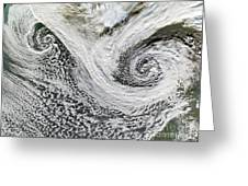 Two Cyclones Forming Greeting Card
