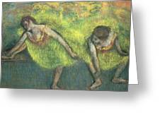 Two Dancers Relaxing Greeting Card