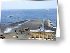 Two Fa-18 Hornets Take Greeting Card