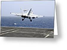 Two Fa-18c Hornet Strike Fighters Greeting Card
