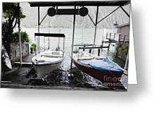 Two Hanging Boats Greeting Card
