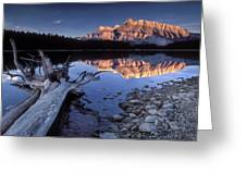 Two Jack Lake Banff Canada Greeting Card