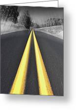 Two-lane Blacktop Greeting Card by Kevin Felts