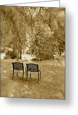 Two Lonely Chairs Greeting Card