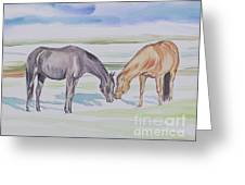 Two Mares Greeting Card
