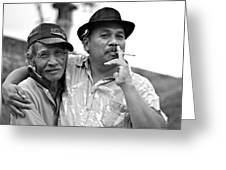 Two Men In Ubud Greeting Card