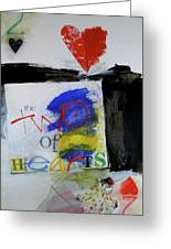 Two Of Hearts 37-52 Greeting Card