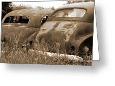 Two Old Rear Ends-sepia Greeting Card