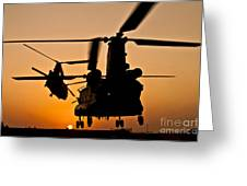 Two Royal Air Force Ch-47 Chinooks Take Greeting Card