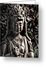 Two Sides Of Buddha Greeting Card