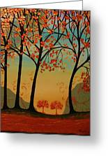 Two Small Trees Greeting Card