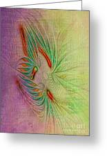 Two Tone Frac Abstract Greeting Card