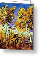 Two Trees In Fall Greeting Card