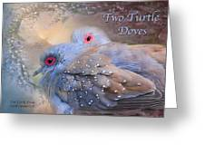 Two Turtle Doves Card Greeting Card