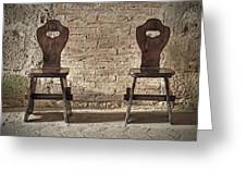Two Wooden Chairs Greeting Card