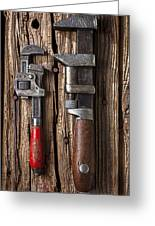 Two Wrenches Greeting Card by Garry Gay