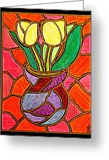 Two Yellow Tulips Greeting Card