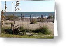 Tybee Island Beach Greeting Card by Juliana  Blessington