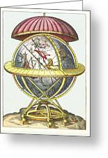 Tycho's Great Brass Globe Greeting Card by Detlev Van Ravenswaay