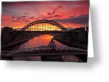 Tyne Bridges At Sunrise IIi Greeting Card