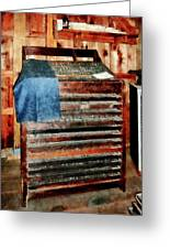 Type Case With Denim Apron Greeting Card