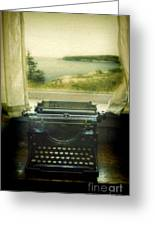 Typewriter By Window Greeting Card