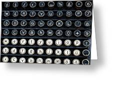 Typewriter Keyboard Greeting Card by Hakon Soreide