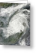 Typhoon Haikui Makes Landfall Greeting Card