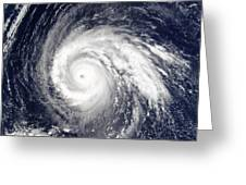 Typhoon Higos Greeting Card