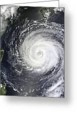 Typhoon Muifa East Of Taiwan Greeting Card