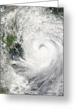 Typhoon Prapiroon Greeting Card