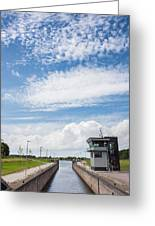Typical Dutch Lock And Control Room Greeting Card