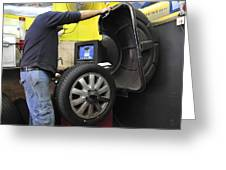 Tyre Workshop And Garage Greeting Card