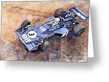 Tyrrell Ford 007 Jody Scheckter 1974 Swedish Gp Greeting Card