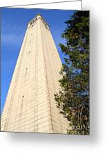 Uc Berkeley . Sather Tower . The Campanile . Clock Tower . 7d10085 Greeting Card