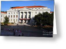 Uc Berkeley . Sproul Hall . Sproul Plaza . Occupy Uc Berkeley . 7d10004 Greeting Card by Wingsdomain Art and Photography