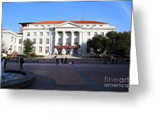Uc Berkeley . Sproul Hall . Sproul Plaza . Occupy Uc Berkeley . 7d9994 Greeting Card