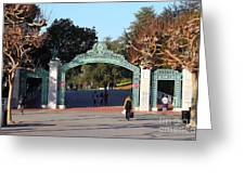 Uc Berkeley . Sproul Plaza . Sather Gate . 7d10020 Greeting Card