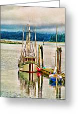 Ucluelet Harbour Hdr Greeting Card