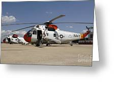Uh-3h Sea King Helicopters Based Greeting Card