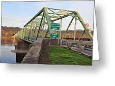 Uhlerstown Frenchtown Bridge Greeting Card