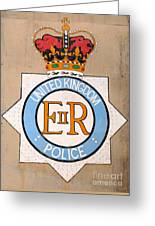 Uk Police Crest Greeting Card