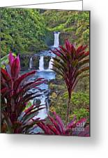 Umauma Falls Big Island Hawaii Greeting Card